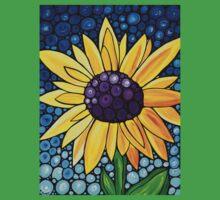 Basking In The Glory - Yellow Sunflower Blue Sky Art Print Baby Tee
