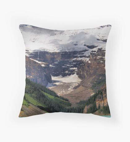 Victoria Glacier - Lake Louise, Banff Throw Pillow