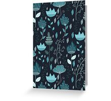 Frozen Flowers Pattern Greeting Card