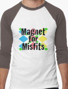 Magnet for Misfits Men's Baseball ¾ T-Shirt