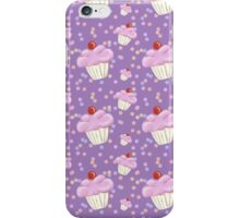 Purple Cupcake pattern iPhone Case/Skin