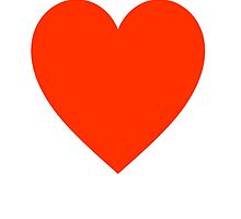 Heart, Red, Love Heart, Pure & Simple, on WHITE by TOM HILL - Designer