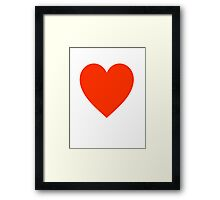 Heart, Red, Love Heart, Pure & Simple, on WHITE Framed Print