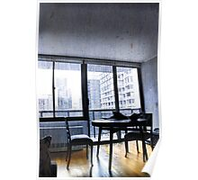 Apartment Living... Room with a View Poster