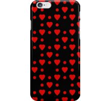 Red hearts and dots pattern iPhone Case/Skin