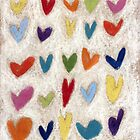 Happy Hearts II by Tine  Wiggens