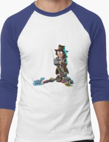 Doctor Who - 4th Doctor and K9 Men's Baseball ¾ T-Shirt