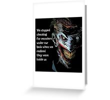 Creepy Joker Greeting Card