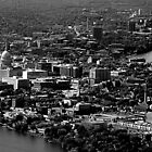 Madison Wisconsin - Isthmus Aerial by Ed Luschei