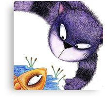 MINXY CAT & FISH Canvas Print