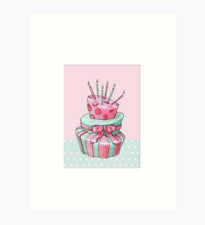 Celebration Cake Art Print