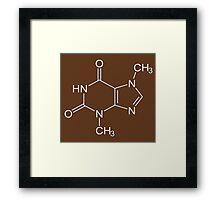Chocolate molecule Framed Print