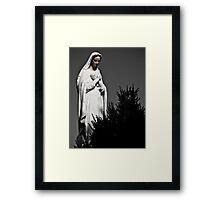 White Mary Framed Print