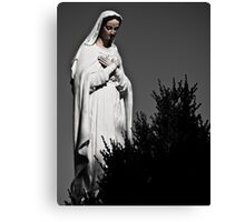 White Mary Canvas Print