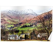 Snow Topped Fells Poster