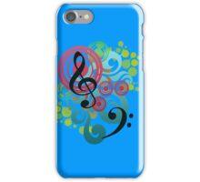 Music swirl iPhone case (blue) iPhone Case/Skin