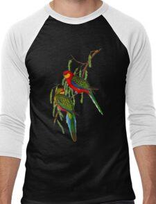 Western Rosella Men's Baseball ¾ T-Shirt