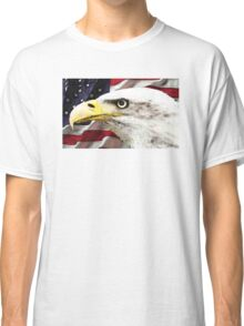 Old Glory - American Bald Eagle Classic T-Shirt