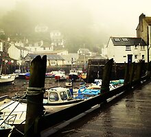 Polperro in the mist by Lissywitch
