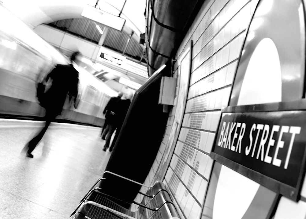 Baker Street Underground in London by doug88888