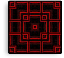 Red and Black Abstract Geometric Pattern  Canvas Print