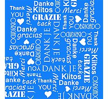 Thank You in Different European Languages Photographic Print