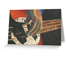 Fingers to the Bass Greeting Card