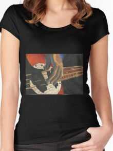 Fingers to the Bass Women's Fitted Scoop T-Shirt