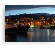 Night falling over Hobart Canvas Print