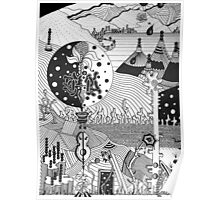 i'm here somewhere, teepee village Poster
