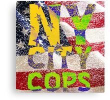 New York NY City Cops T Shirts, Stickers and Other Gifts Canvas Print