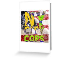 New York NY City Cops Greeting Card