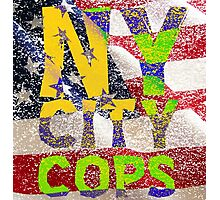 New York NY City Cops T Shirts, Stickers and Other Gifts Photographic Print