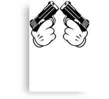 Cartoon Hand Guns Canvas Print