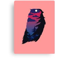Spooky hunting owl Canvas Print