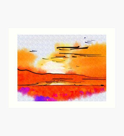 Great Salt Lake Sunset Art Print