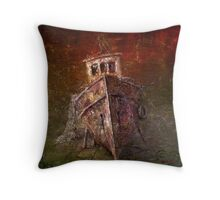 Old boat Throw Pillow