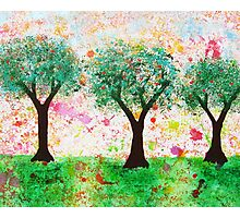 Loves Nature - Trees with Love Hearts Photographic Print