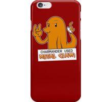 Charmander Used Metal Claw iPhone Case/Skin