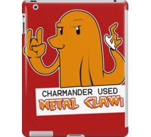 Charmander Used Metal Claw iPad Case/Skin