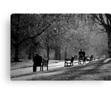St James Park in black and white Canvas Print