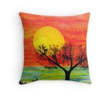 Gentle Moments - Sunrise - Gold Coast Throw Pillow