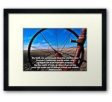 By Faith. Framed Print