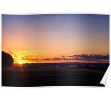 Sunset Flyby  Poster