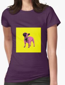 Pop Art Frenchie Womens Fitted T-Shirt