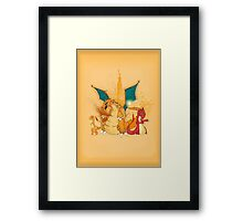 Charmander Evolution! Framed Print