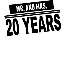 Mr. And Mrs. 20 Years by GiftIdea