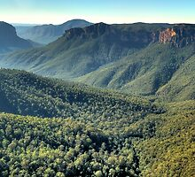 Glory -Govetts Leap - Blue Mountains (25 Shot HDR Panorama) -The HDR Experience by Philip Johnson