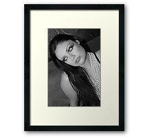 she looks Framed Print