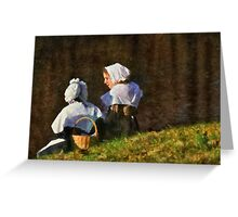People - The young maidens Greeting Card